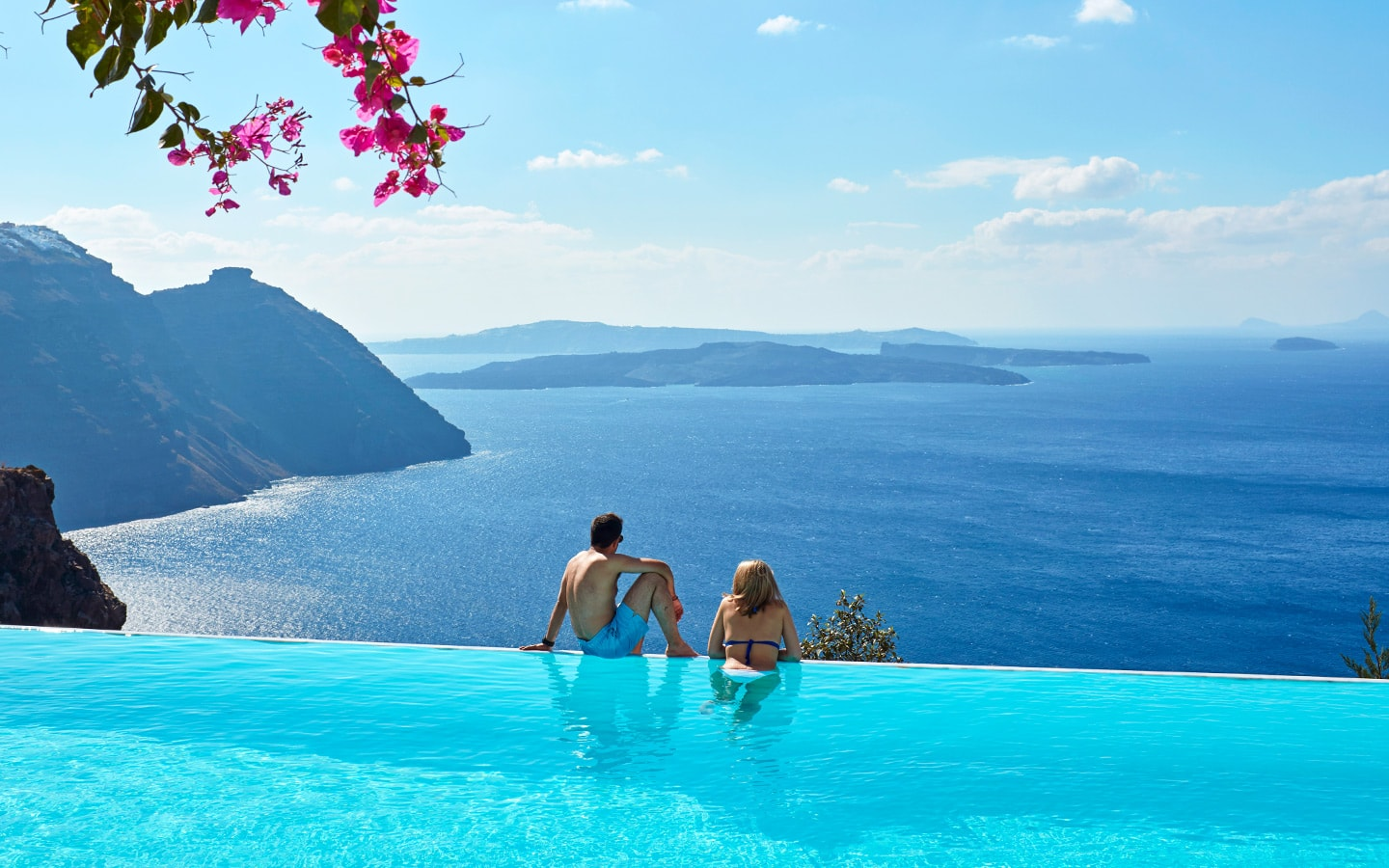 hotel infinity pool san antonio santorini hotel. Black Bedroom Furniture Sets. Home Design Ideas
