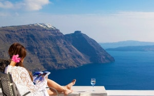 San Antonio cliffside Hotel in Santorini is a great location for relaxing & enjoying the sea view